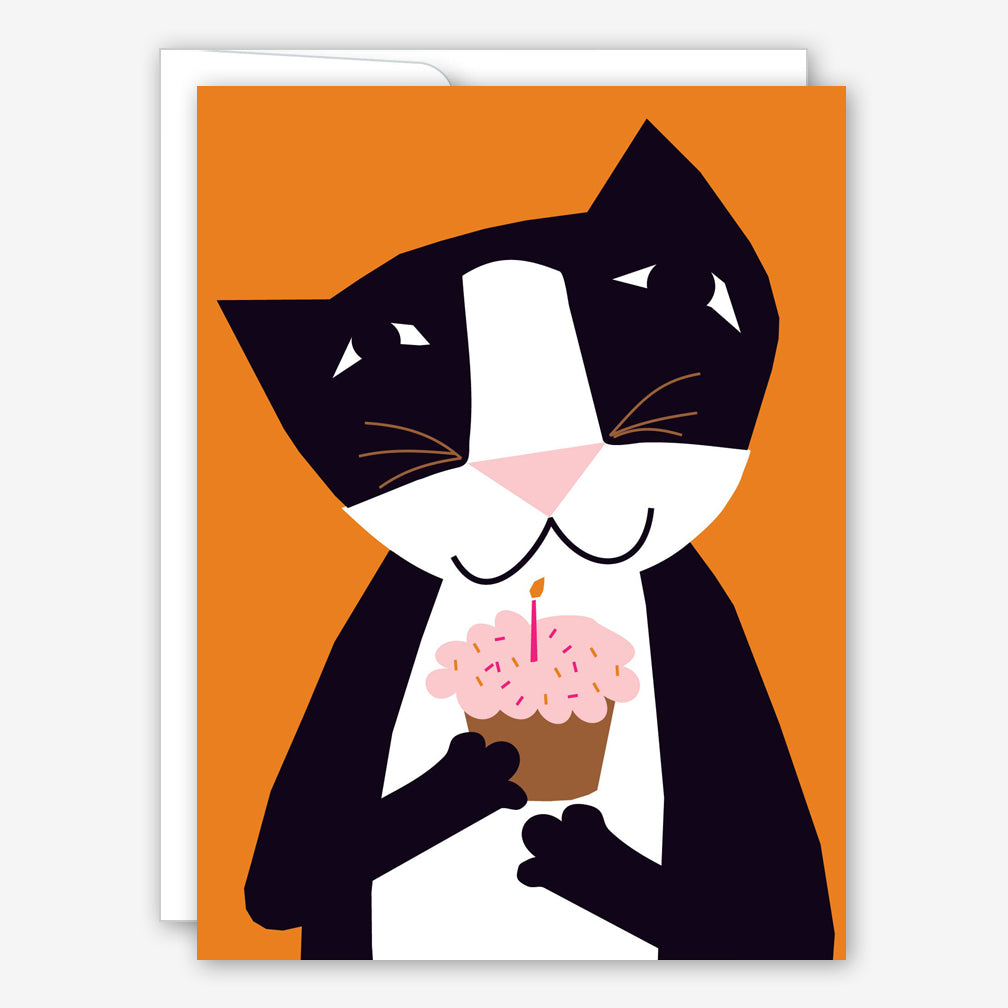Great Arrow Birthday Card: Cupcake Kitty Cat