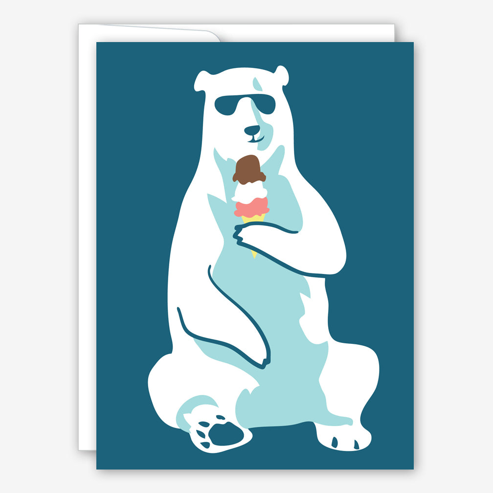 Great Arrow Birthday Card: Cool Polar Bear