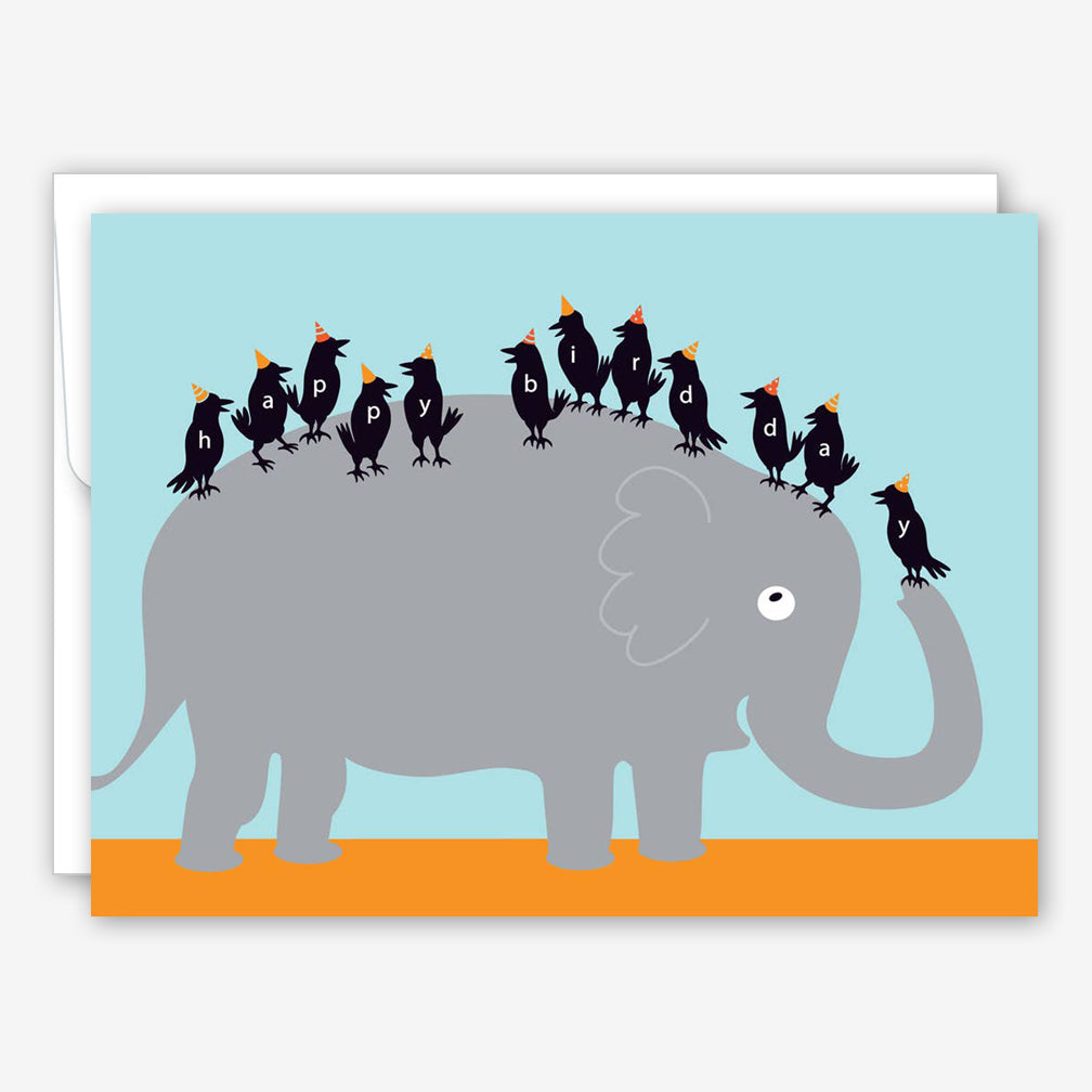 Great Arrow Birthday Card: Elephant & Birds