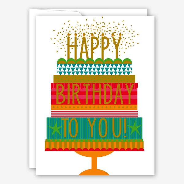 Great Arrow Birthday Card: Confetti Cake