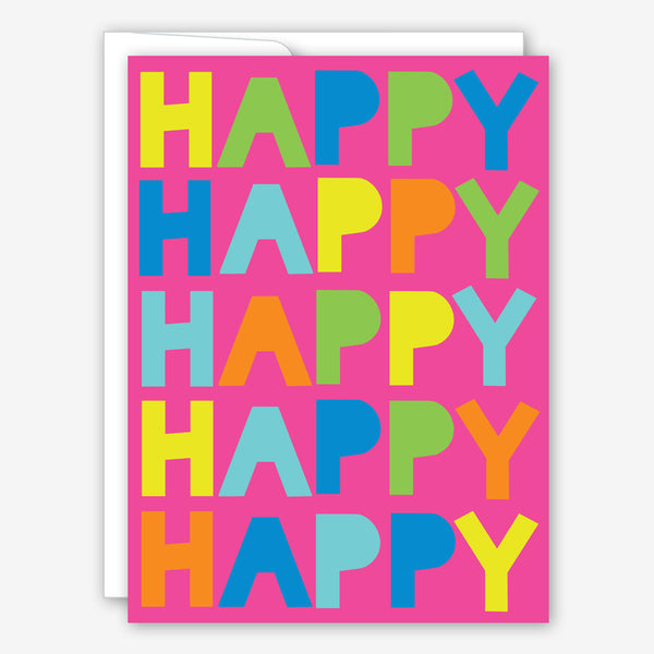 Great Arrow Birthday Card: Happy Happy Happy