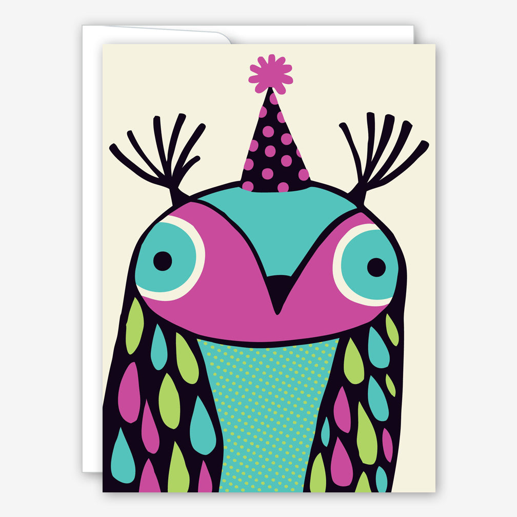 Great Arrow Birthday Card: Party Owl