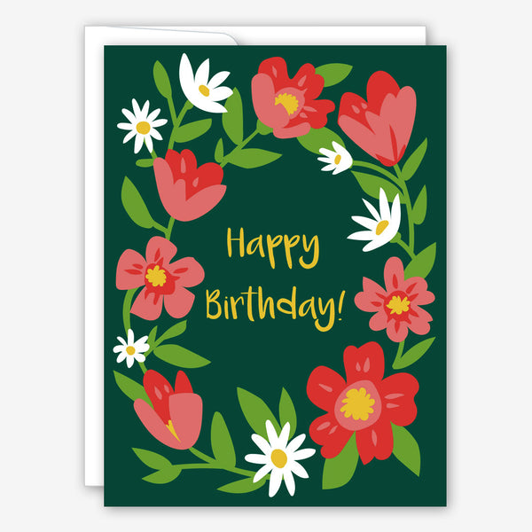 Great Arrow Birthday Card: Floral Frame