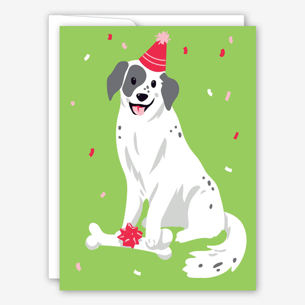 Great Arrow Birthday Card: Pup with Bone