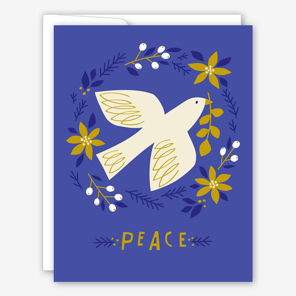 Great Arrow Christmas Card: Peace Dove in Wreath
