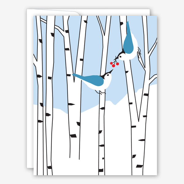 Great Arrow Christmas Card: Two Birds in Birches