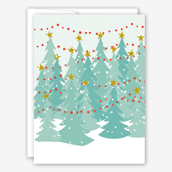Great Arrow Christmas Card: Wintery Tree Farm