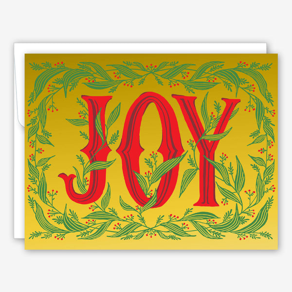 Great Arrow Christmas Card: JOY with Metallic Gold