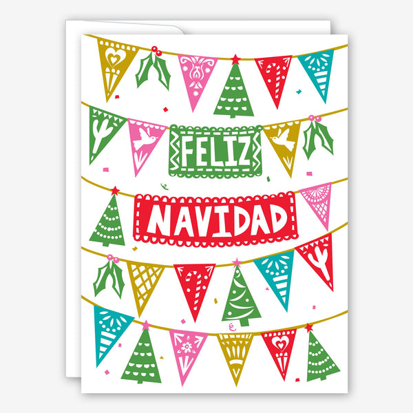 Great Arrow Christmas Card: Feliz Navidad Paper Picada