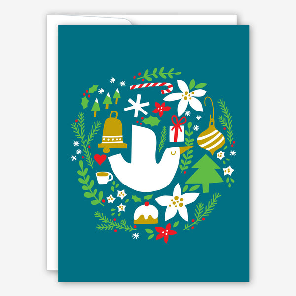 Great Arrow Christmas Card: Dove and Wreath