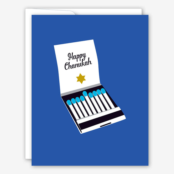 Great Arrow Chanukah Card: Matchbook Menorah