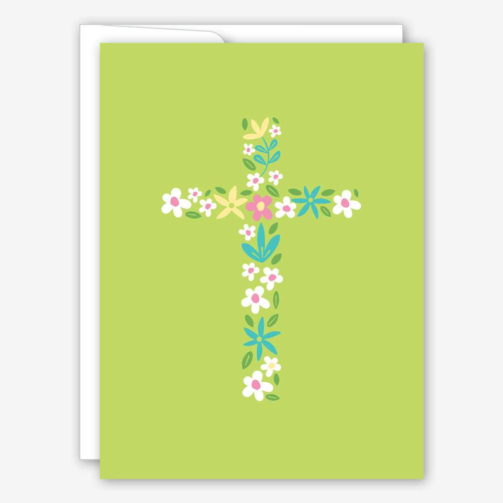 Great Arrow Easter Card: Floral Cross