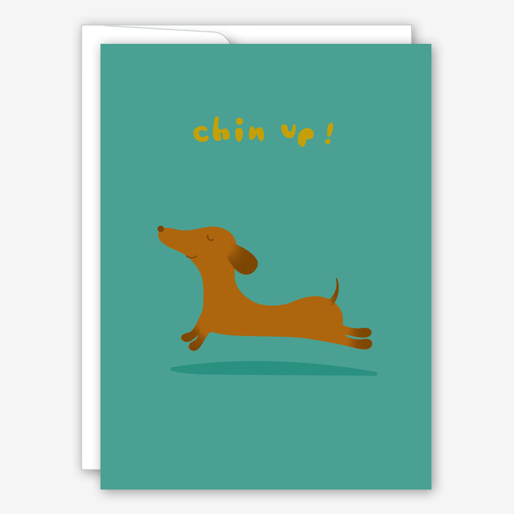 Great Arrow Encouragement Card: Chin Up Dachshund