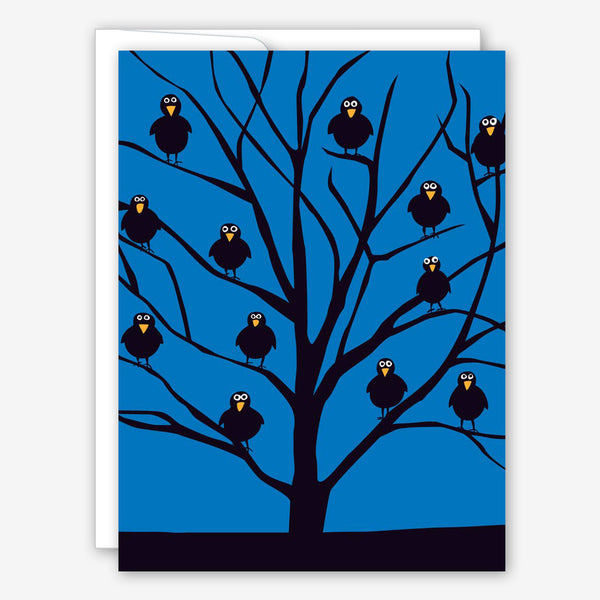 Great Arrow Halloween Card: Tree Full O' Crows