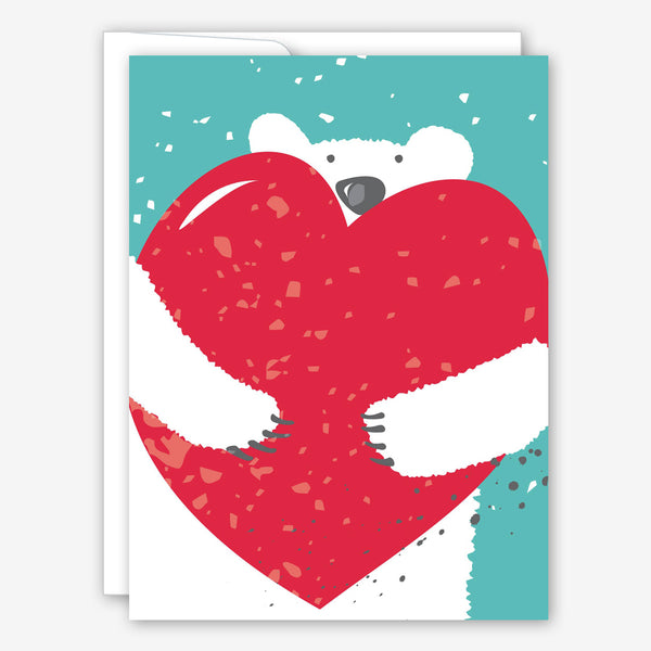 Great Arrow Love Card: Polar Bear with Heart
