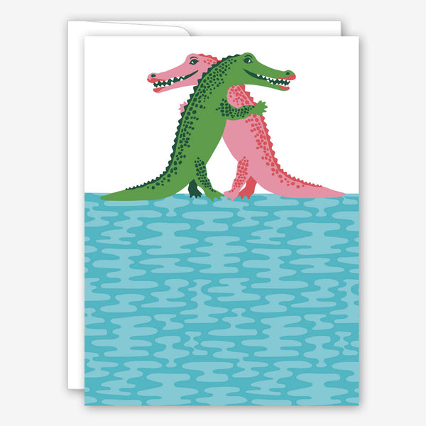 Great Arrow Love Card: Crocodiles