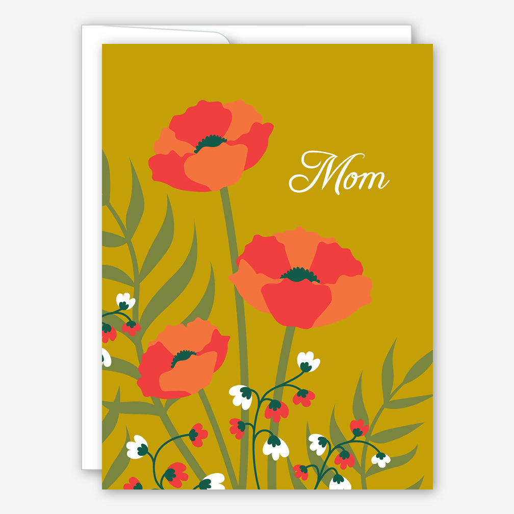 Great Arrow Mother's Day Card: Poppies on Metallic Gold