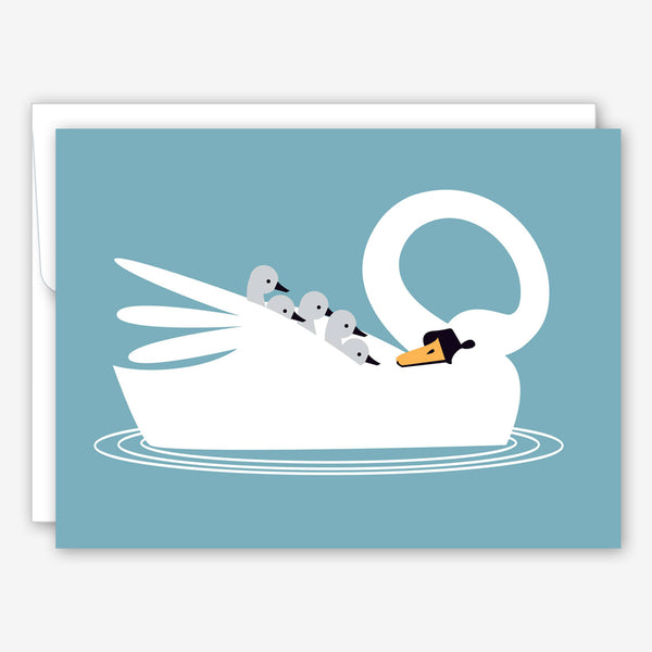 Great Arrow Mother's Day Card: Swan and Babies