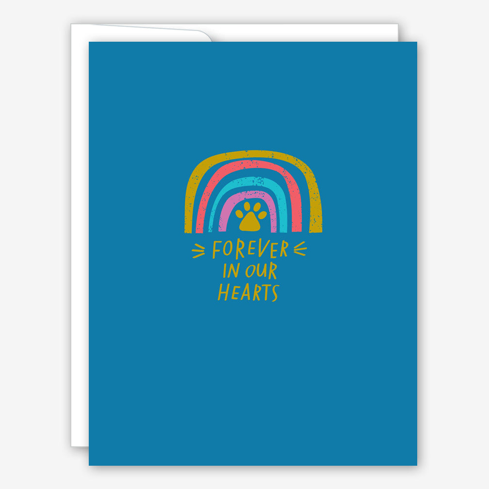 Great Arrow Pet Sympathy Card: Metallic Rainbow: Forever in Our Hearts