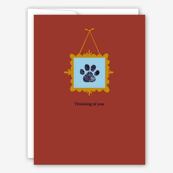 Great Arrow Pet Sympathy Card: Paw Print