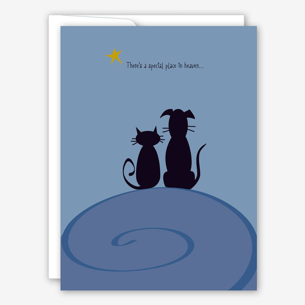 Great Arrow Pet Sympathy Card: Cat and Dog Best Friends