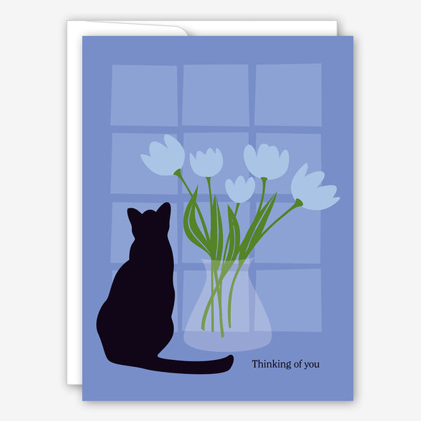 Great Arrow Pet Sympathy Card: Cat in the Window