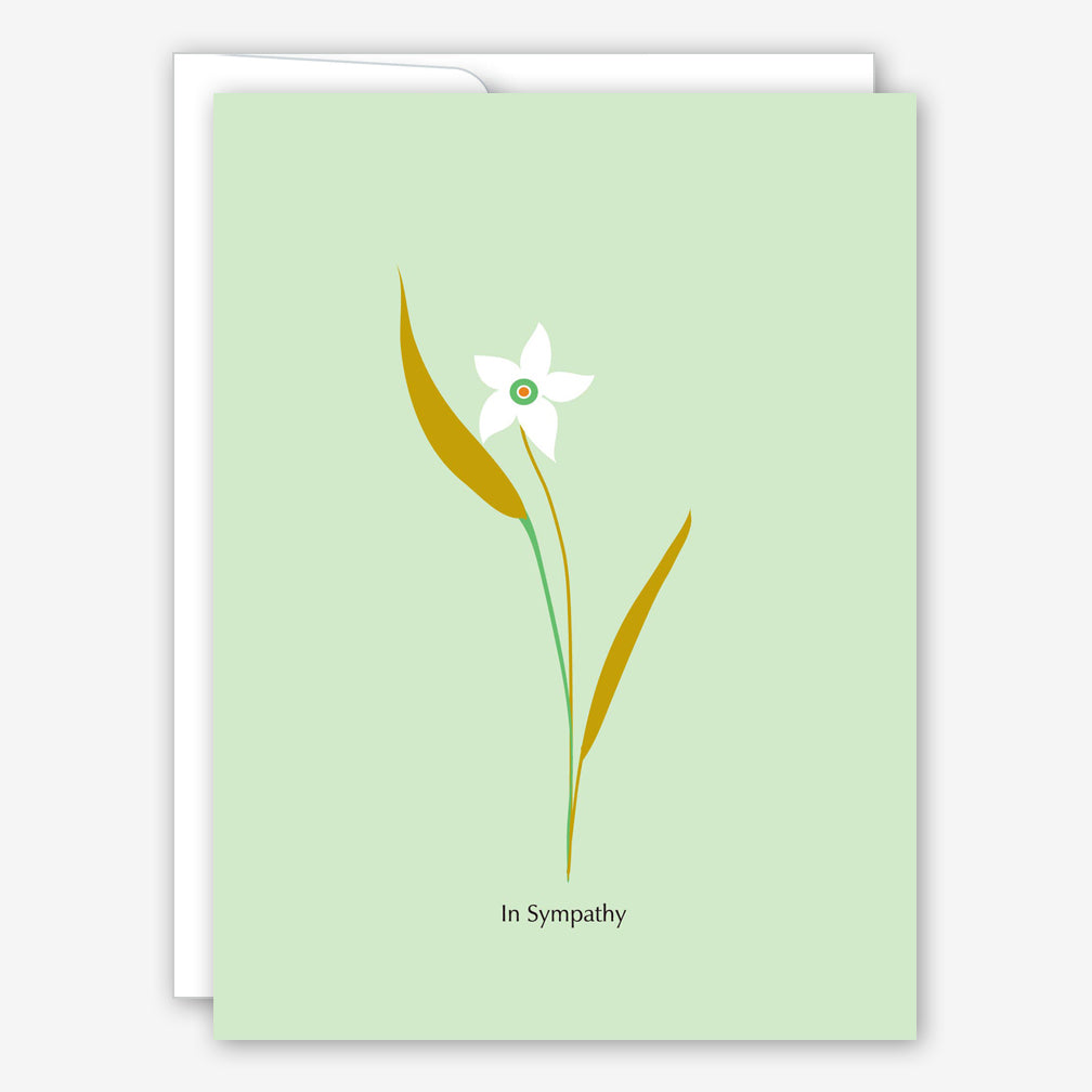 Great Arrow Sympathy Card: Single Flower