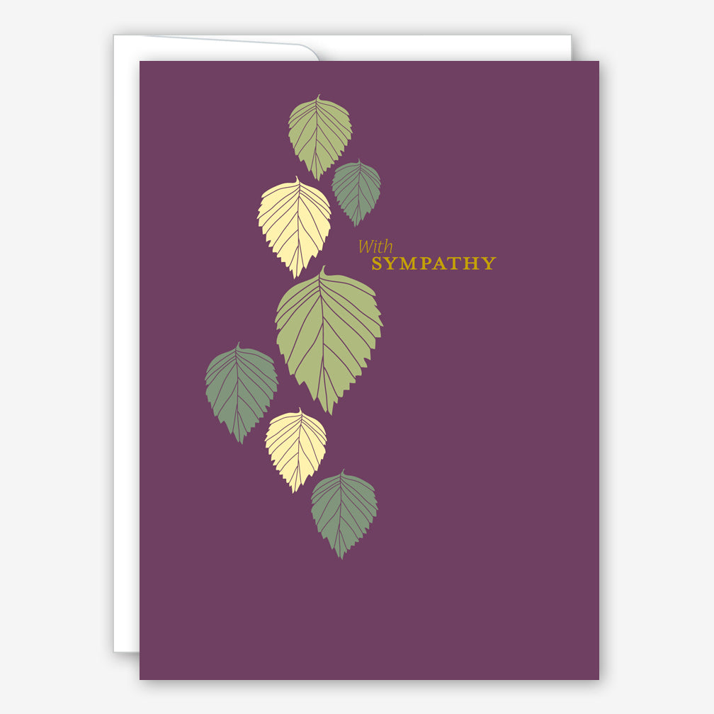 Great Arrow Sympathy Card: Cascading Leaves