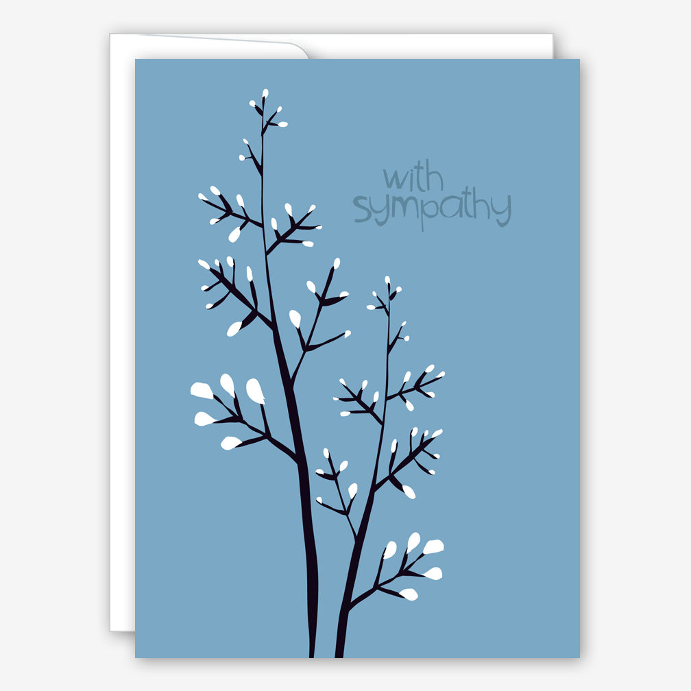 Great Arrow Sympathy Card: Pussy Willow