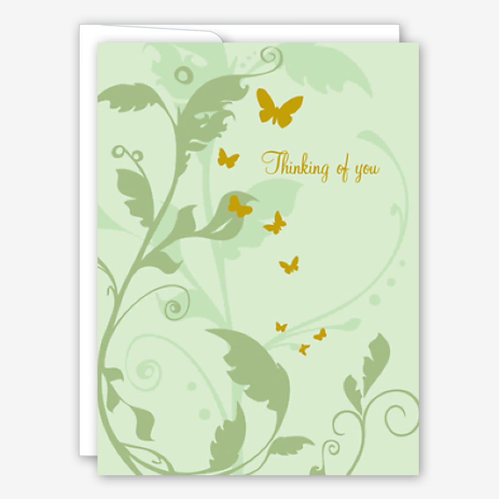 Great Arrow Sympathy Card: Vines with Butterflies