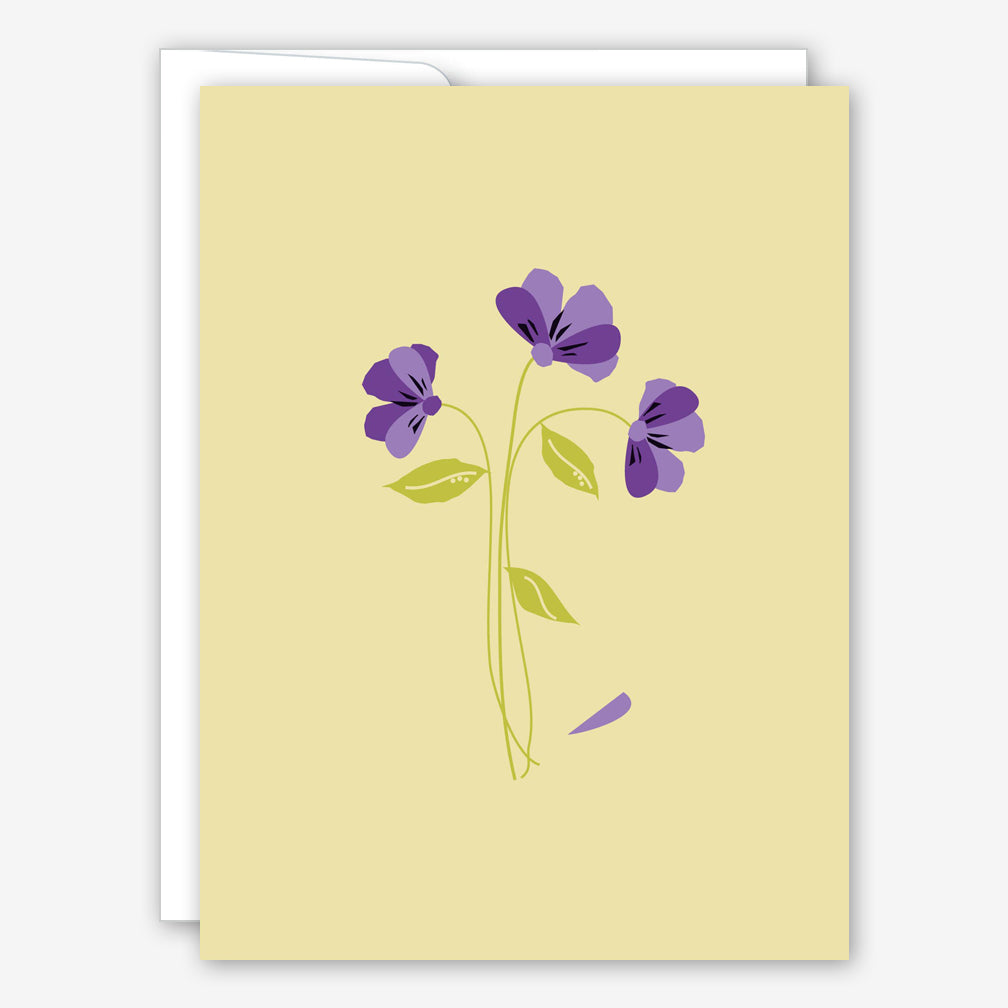Great Arrow Sympathy Card: Violets