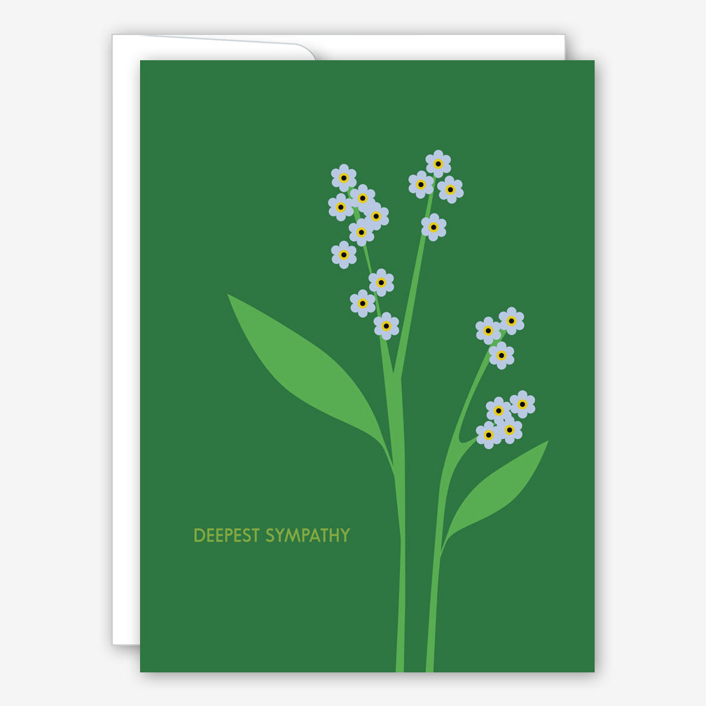 Great Arrow Sympathy Card: Forget Me Nots