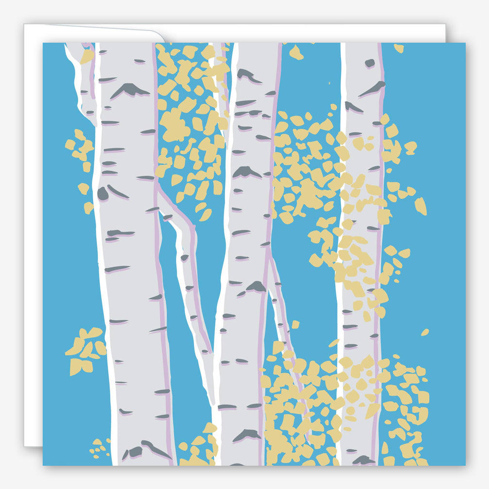 Great Arrow Sympathy Card: Birch Trees