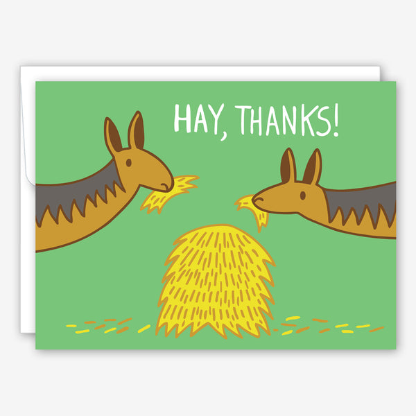 Great Arrow Thank You Card: Hay, Thanks!
