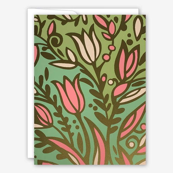 Great Arrow Thank You Card: Floral Pattern