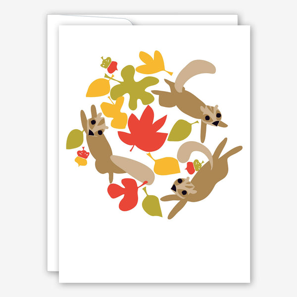 Great Arrow Thanksgiving Card: Squirrel Swirl