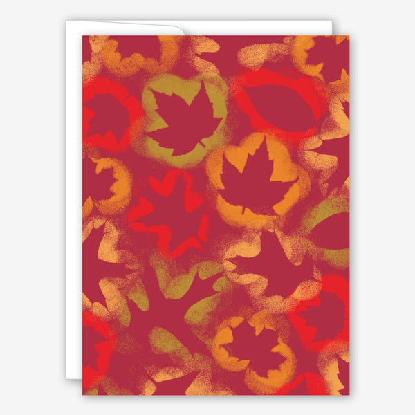 Great Arrow Thanksgiving Card: Spray Paint Leaves