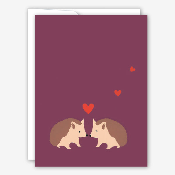 Great Arrow Valentine's Day Card: Hedgehog Couple
