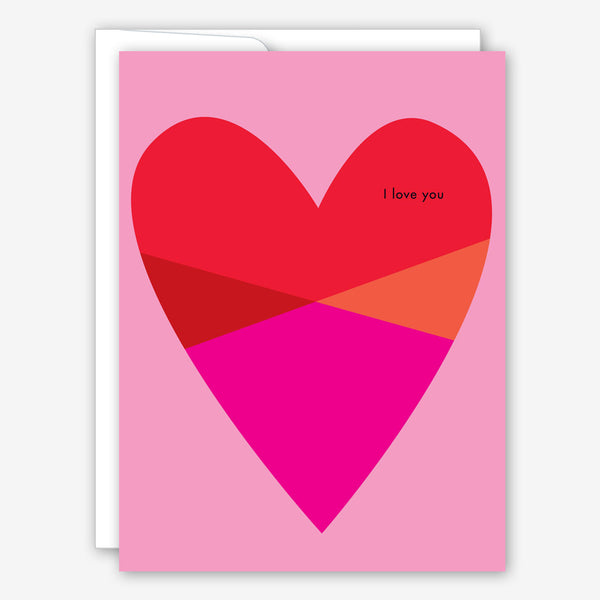 Great Arrow Valentine's Day Card: Block Heart