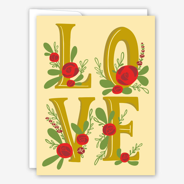 Great Arrow Valentine's Day Card: Metallic Love with Roses