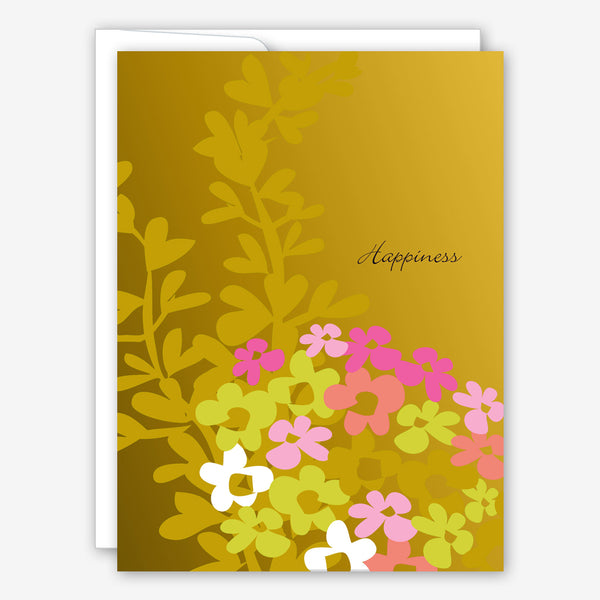 Great Arrow Wedding Card: Happiness Flowers