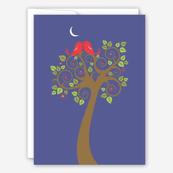Great Arrow Wedding Card: Kissing Birds