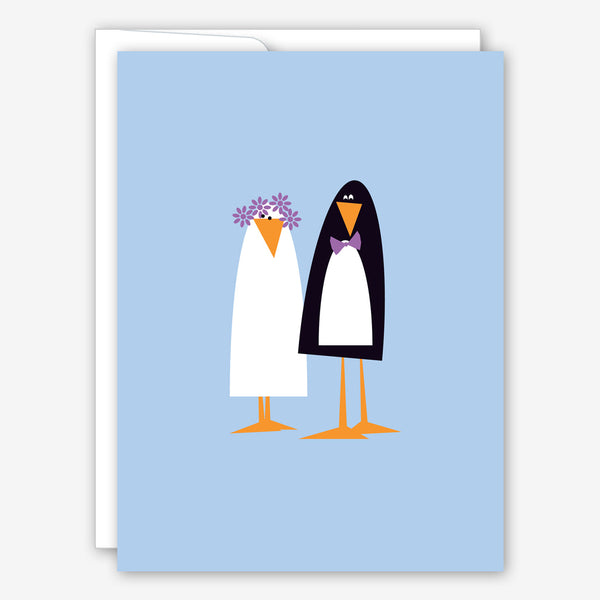 Great Arrow Wedding Card: Love Birds