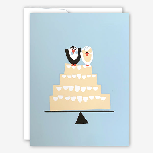 Great Arrow Wedding Card: Bird Couple