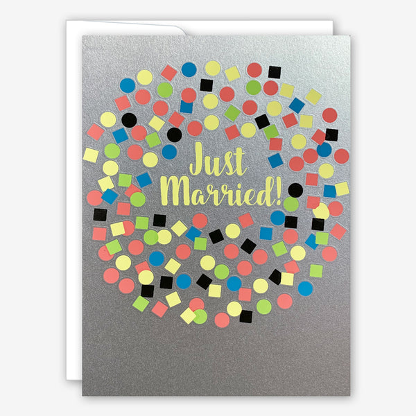 Great Arrow Wedding Card: Just Married