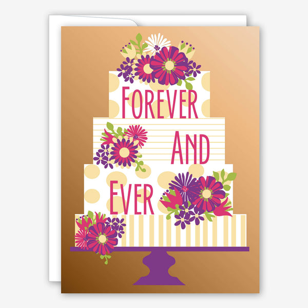 Great Arrow Wedding Card: Forever Layer Cake on Metallic