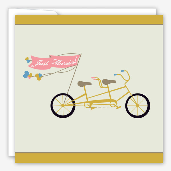 Great Arrow Wedding Card: Tandem Bike