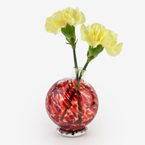 Henrietta Glass: Bud Vase: Candy Apple Red