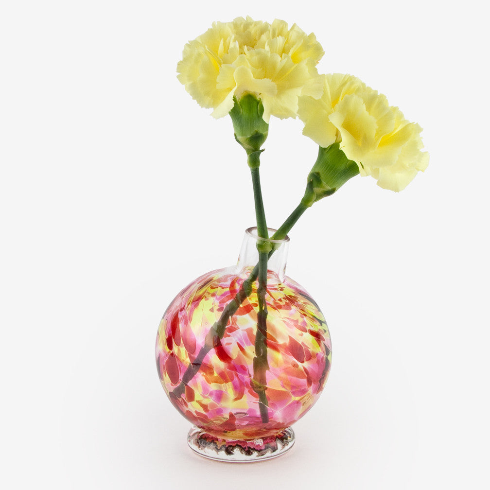 Henrietta Glass: Bud Vase: Raspberry Lime