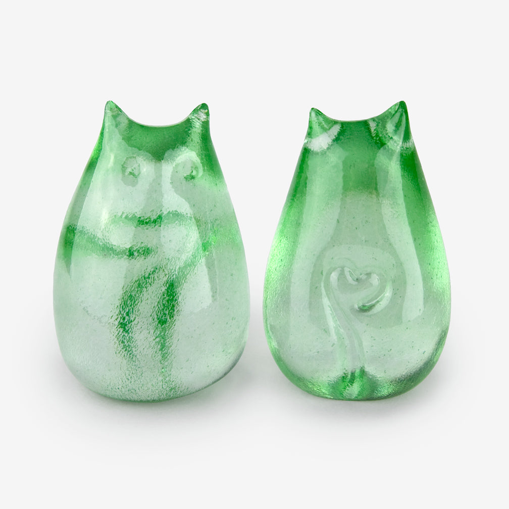 Henrietta Glass: Love Cats: Celadon